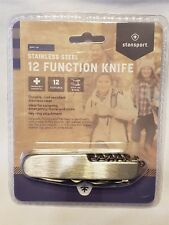 Stansport Multi Function Knife 12 Tools Stainless Steel Rust Resistant Key Ring