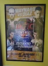 UFC Fight Night 20 Poster Signed by Card NATE DIAZ UFC Official Event Auto +++