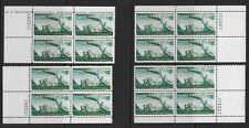 Canal Zone Sc 165 four matched plate blocks #173357, MNH, VF+