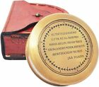 Brass Compass with Leather Case J.R.R. Tolkien Directional Magnetic LOTR Compass