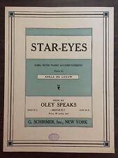 STAR-EYES words by Adele De Leeuw Music Oley Speaks 1923 Medium in F/ Piano SM