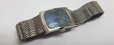 Used vintage FAVRE-LEUBA deco cadran bleu manuel vent man's watch mesh bracelet
