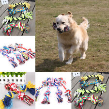 1Pcs New Random Double Knot Puppy Dog Pet Toy Cotton Braided Bone Rope Chew Knot
