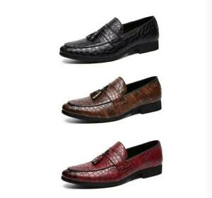 Mens Loafers Shoes Leather Slips On Alligator Business Comfy Casual Shoe Size 10