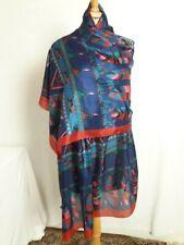 GF08/ Grand Foulard châle étole en fine soie 100% 88x190cm Fine silk 100% shawl