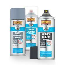 Hycote Bodyshop Gloss Black 400ml + Clear Lacquer + Bodyshop Grey Primer Kit