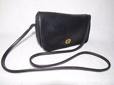 COACH Penny Black Leather Crossbody shoulder bag handbag purse NYC USA