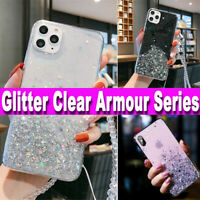 iPhone XR,7,11 Pro,XS Max,X,8 Plus Glitter Clear Case Shockproof UltraThin Cover