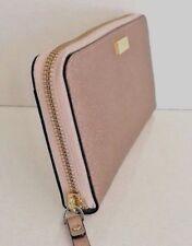 New Kate Spade Neda Laurel Way Leather Zip Around Wallet Rose Gold