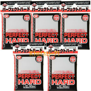 KMC CARD BARRIER Perfect Hard TCG Standard Size 50 Card Sleeves x 5 packs