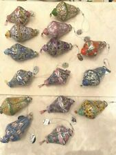 New Listing15 Bradford Exchange The Era of Louis Tiffany Stained Glass Porcelain Ornaments