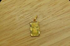 24K .9999 FINE GOLD CREDIT SUISSE 1g BAR INGOT IN A 22K YELLOW GOLD BEZEL