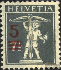 Suisse 158 neuf avec gomme originale 1921 surcharge