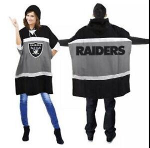 Oakland Las Vegas Raiders Hoodie Poncho NEW  Little Earth NFL LICENSED