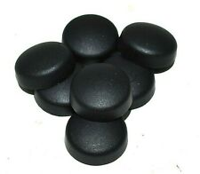LARGE BLACK DOME SCREW COVER CAPS  2 PIECE SNAP ON 200