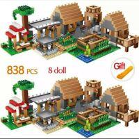 🔥VILLA MINECRAFT 1100 PIEZAS Y 8 FIGURAS ESTILO LEGO BLOQUES CONSTRUCCION NUEVO