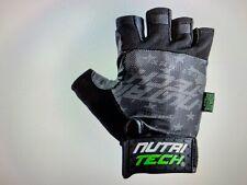 NutriTech Black Weight Lifting Strength Training WOD Crossfit Gloves
