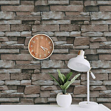 Self-Adhesive Peel and Stick brown brick Wallpaper Contact paper Decoration -2M