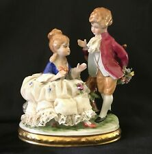 Dresden Unterweissbach German Figurine Porcelain Courting Couple