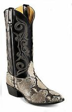 Nocona Mens Vintage NIB Natural Belly Cut Python Western Boots 7B 1204731403