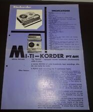 Dokorder Mi-TIKorder radio mixer advertisement and specificaton sheet