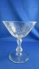 ancien verre cristal epoque XIXe  gravé coupe a champagne 12.2cm