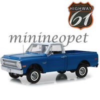 HIGHWAY 61 18011 1970 CHEVY C-10 PICK UP TRUCK 1/18 with LIFT KIT DARK BLUE POLY