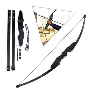 "54"" 40 lbs Archery Hunting Bows Recurve Compound Bow Shooting Set black"