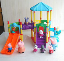 New Kids Peppa Pig Sliding Amusement Park Peppa Friends Play Set Toys Xmas Gift