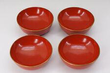 Japan Red URUSHI Wooden Soup Bowl Set 4+4pc Free Shipping 584e12