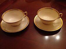 Lenox Tuxedo J 33 Cup Saucer Set of 2
