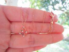 .05 Carat Diamond Rose Gold Adjustable Necklace 14k codeNx10 sep
