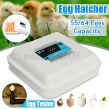 55/64 Digital Egg Incubator Automatic Turning Hatcher Household Chicken Duck Bir