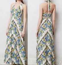 NWT 2 Anthropologie Long Maxi Haler Soraya BoHo Tall Floral Dot Motif Cruise NEW