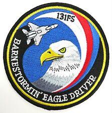 USAF 131st FS FIGHTER SQUADRON BARNESTORMIN EAGLE DRIVER PATCH