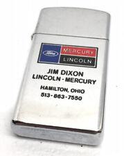 Thin Zippo Lighter - Lincoln Mercury Automobiles Jim Dixon