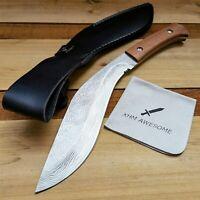 10.6'' Fixed Blade Knife Kukri Full Tang Machete Outdoor Survival Camping Tool