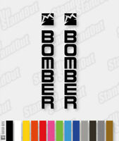 Marzocchi Bomber Stickers / Decals - Custom / Fluorescent Colours - HORIZONTAL