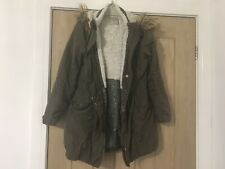 Girls Next Parka Style Coat With Fur Hood Age 9-10 Yrs