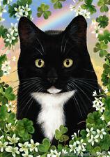 Clover House Flag - Black and White Tuxedo Cat 31950
