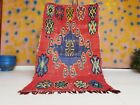 Vintage Boujad Moroccan Handmade Rug 3ft 3x5ft 7 Floral Bohemian Abstract Design
