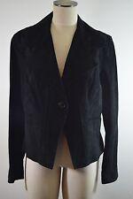 Anne Klein Women's Leather Jacket/coat Sz L Large Black