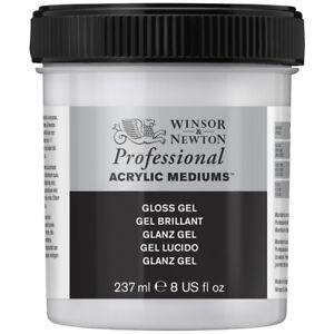 Winsor & Newton Artists Professional Acrylic Painting Gloss Gel Medium 237ml