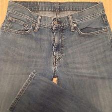 LEVI'S 514 Jeans SLIM STRAIGHT 30x32 Medium Blue Distressed *XLNT EUC*  J070717