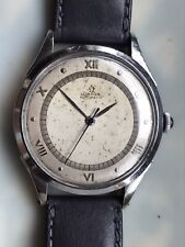 OMEGA Automatic Mov. 2810 RA. ref. 2421/3. Two part steel case. 1944. Roman num.