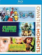 Robots/Aliens in the Attic/Arthur and Invisibles 2  3 (Blu-ray Disc, 2013)  NEW