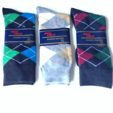 3 Pairs Mens Fashion/Dress/Casual ARGYLE Socks * NEW W/ LABELS * Black/Gray