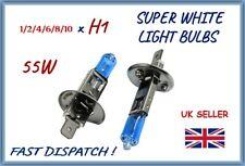H1 448 FRONT HALOGEN SUPER WHITE CAR LIGHT BULBS HEADLAMP 55W HEADLIGHT LOW HIGH