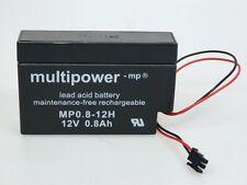 Multipower MP0.8-12H  12V 0,8 Ah | Blei-AKKU |Akku mit Stecker z.B.Heim und Haus