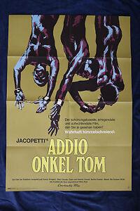 orig Kino Plakat - Addio, Onkel Tom 1971 Mondofilm Sklaverei Gualtiero Jacopetti